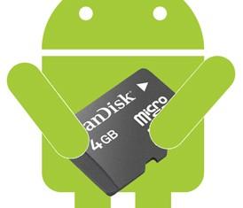 Instalación de aplicaciones directas al móvil en la tarjeta SD
