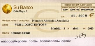 como se llena un cheque